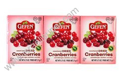 Gefen sweetened dried cranberries 6x.75 oz